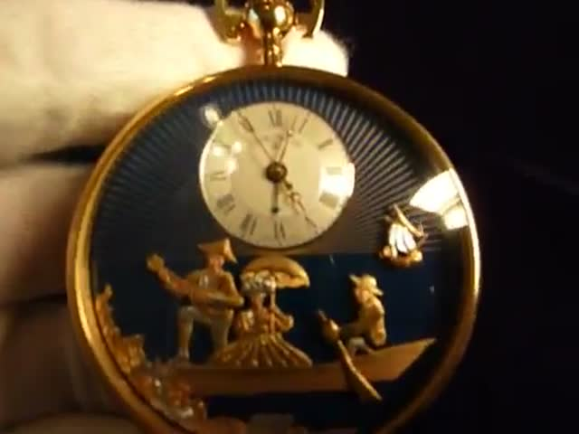 A Reuge Erotic Musical Pocket Watch from the 19th Century  (VIDEO)