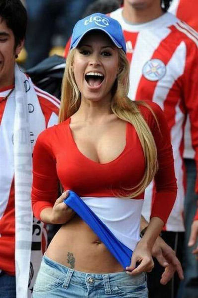 Ladies Flash Their Boobs for World Cup Fever