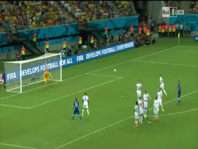 England's Goalie Joe Hart Really Wanted the Ball!