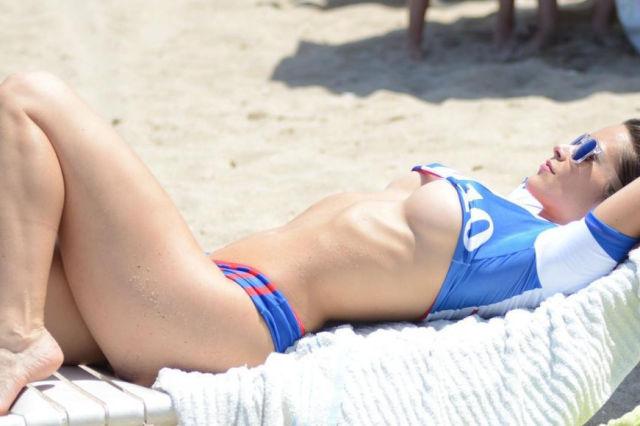 Anais Zanotti Shows Off Her Patriotic Side in Hot French Bikini