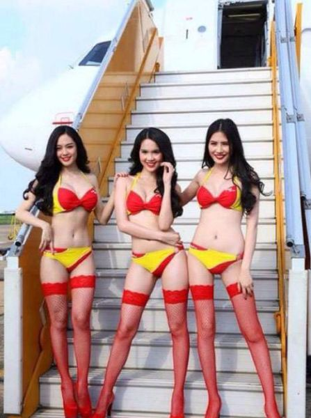 Leaked Racy Airline Ad Campaign Photos Are Now Flying around the Web