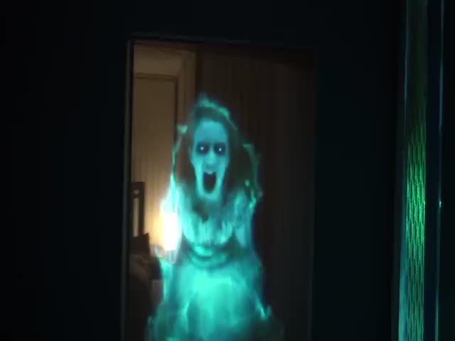 Terrifying Ghost Hologram Decoration for Halloween  (VIDEO)
