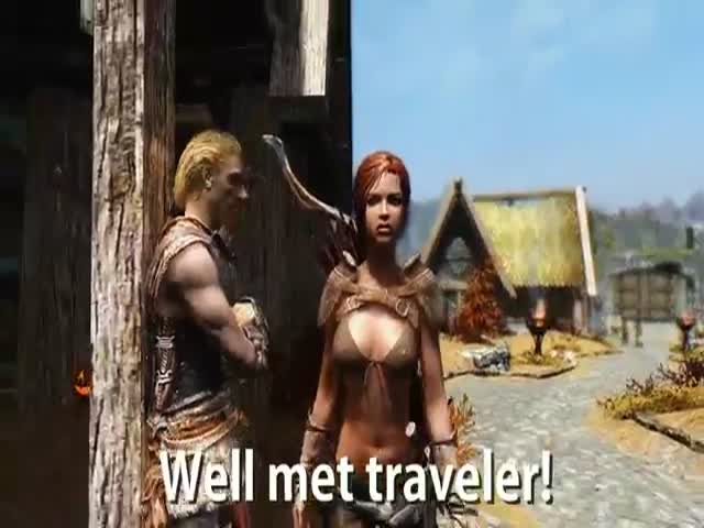 What It's like to Walk in Skyrim as a Woman Wearing Skimpy Armor