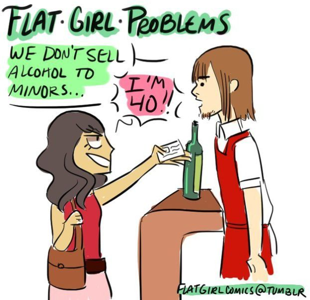 Problems That All Flat Chested Women Have Faced at One Time