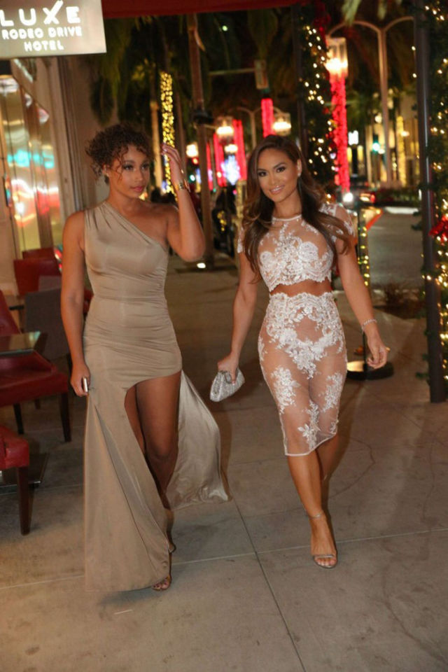 Daphne Joy's Revealing Lacy Dress Draws Attention
