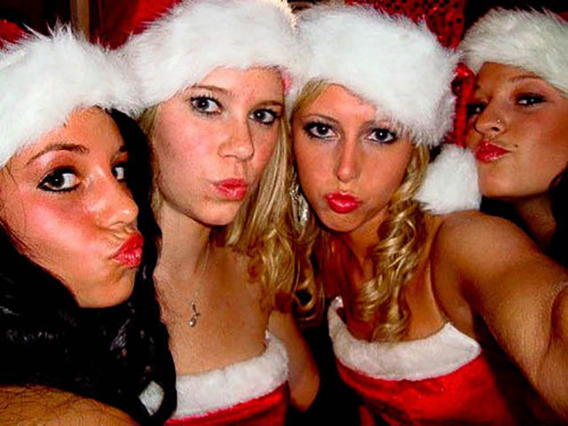 Christmas Party Craziness with Drunk Girls