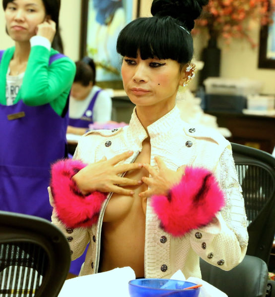 Bai Ling Went For a Manicure in a Very Revealing Outfit