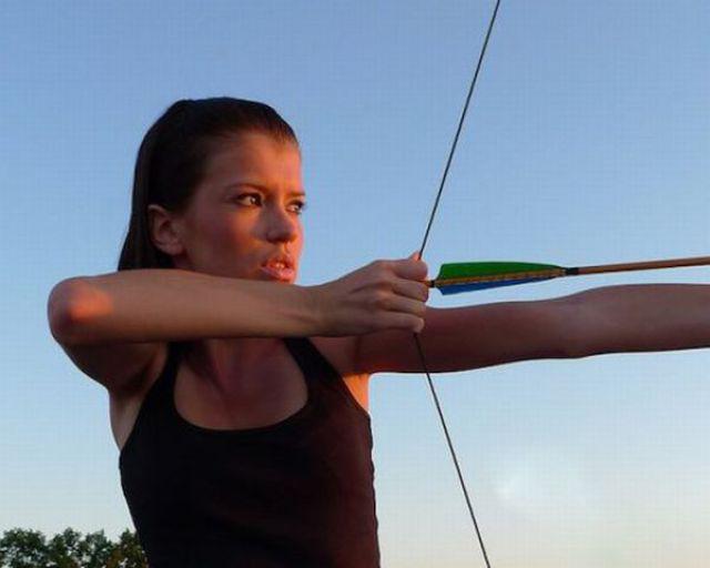 Sexy Archery Girls Shooting Away