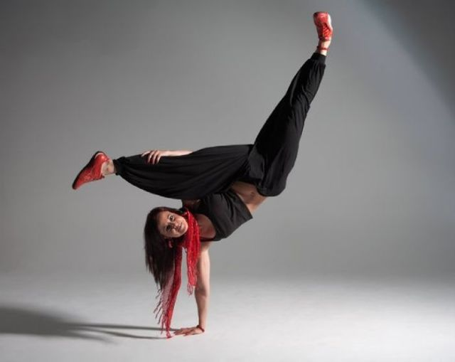 A Flexible Female Who Could Really Kick Your Ass