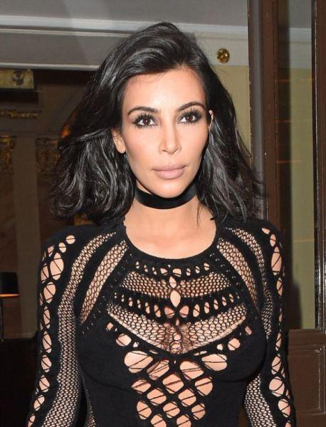 Kim Kardashian Shows a Little Boob at the BRIT Awards