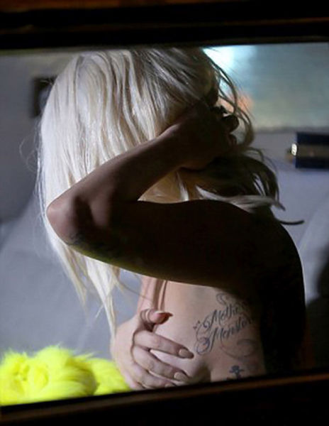 Lady Gaga Shows a Little More Boob Than Planned on Set