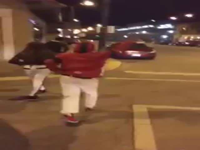 A-holes Slamming Hoods of Parked Cars Get Some Beautiful Instant Karma