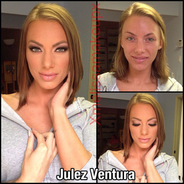 Porn Stars Pre and Post Their Makeup Makeovers