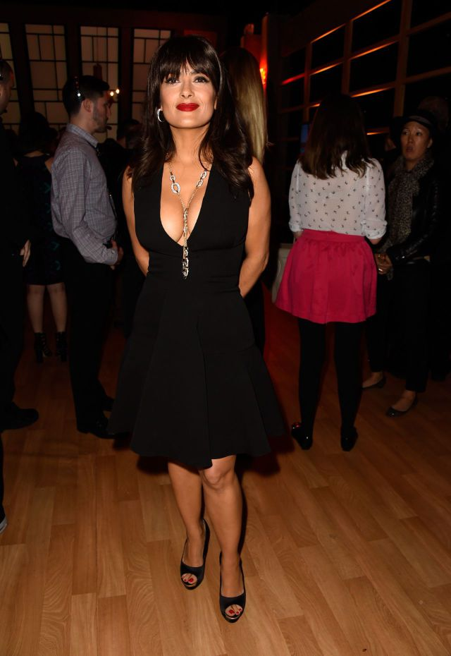 Salma Hayek's Cleavage Steal the Show at the Spike TV Guys Choice Awards
