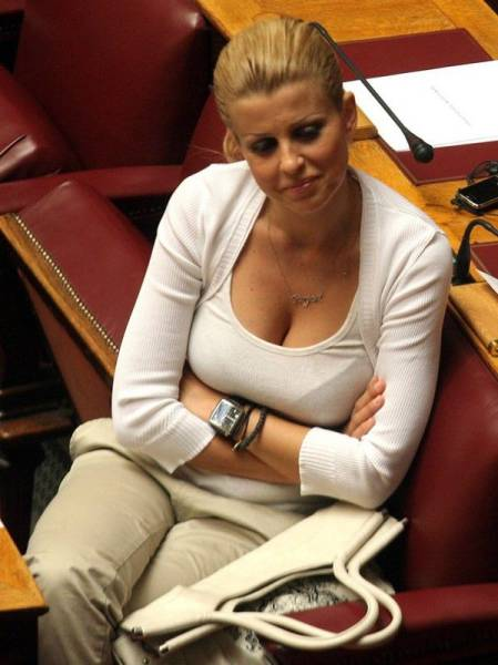 Elena Rapti Is the Hottest Woman in Greek Parliament