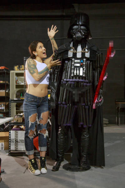 A Darth Vader Replica Built Almost Entirely out of Adult Toys