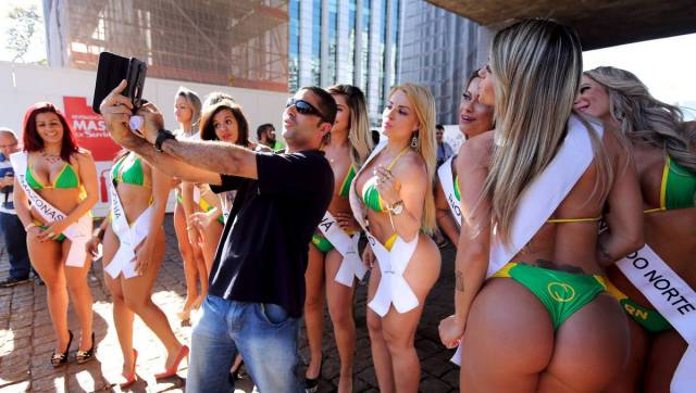 Miss Bumbum 2015 Contestants Take to the Streets in Brazil
