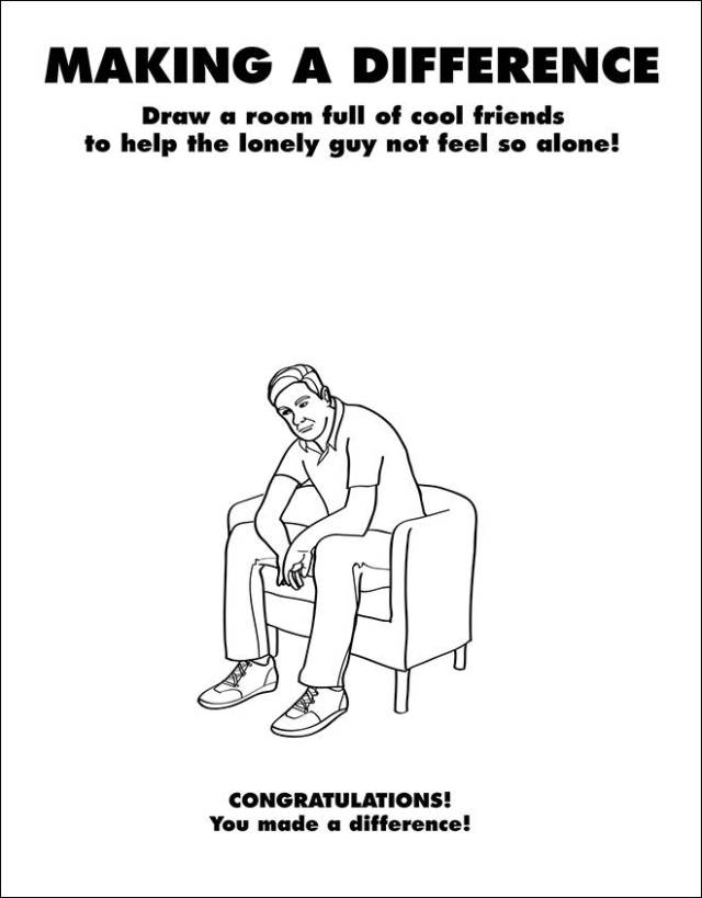 Depressingly Realistic Coloring Books for Grown Ups