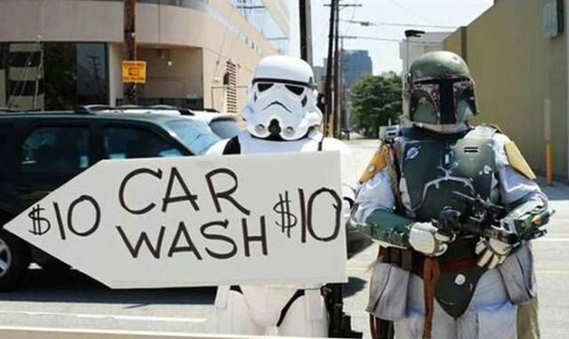 A Star Wars Themed Car Wash That Will Have All the Geeks Lining Up Around the Block