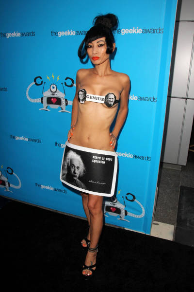 Chinese Actress Shocks in Odd Risqué Outfit on the Streets of LA