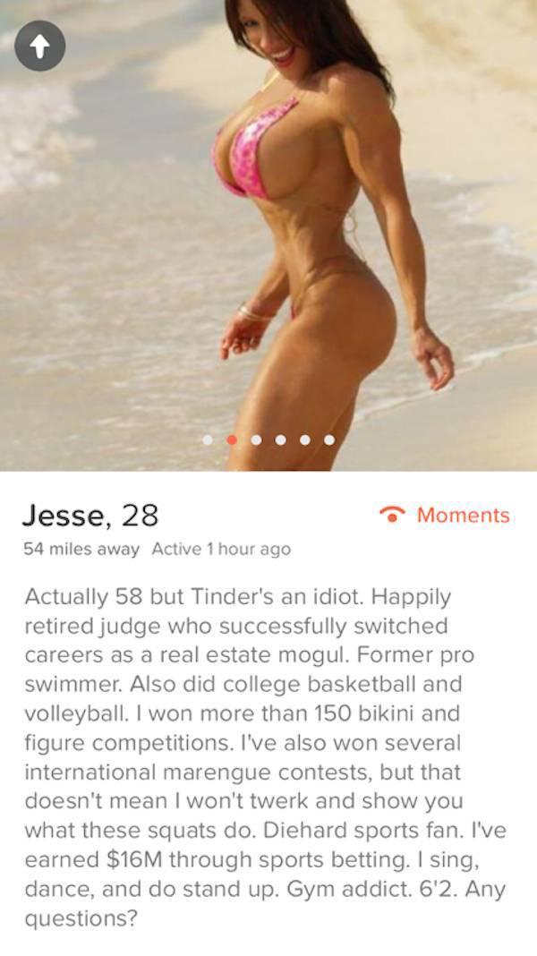 Tinder Profiles That Aren't Messing Around