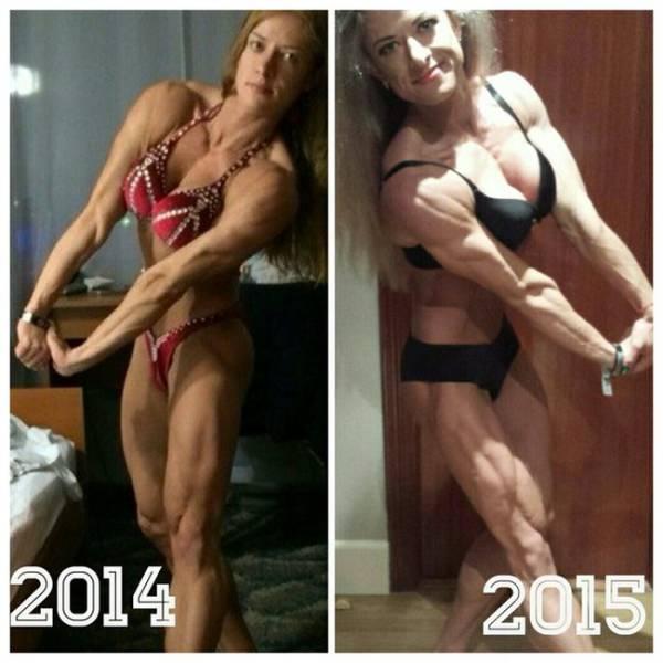 Female Bodybuilder Undergoes a Dramatic Body Transformation in Only One Year