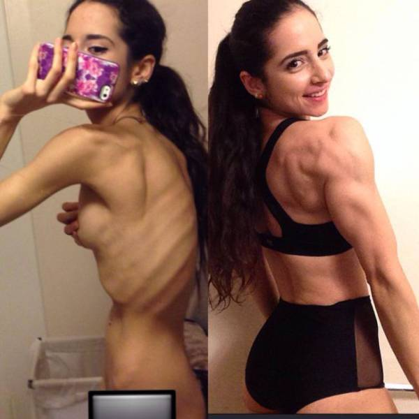 Anorexic Girl Completely Transforms Her Life with Bodybuilding