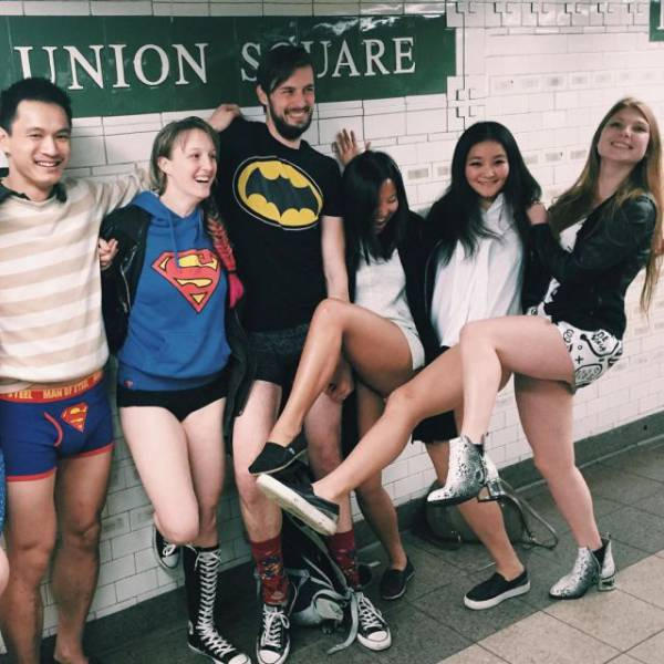 """The """"No Pants Subway Ride"""" Is Back for Another Year"""