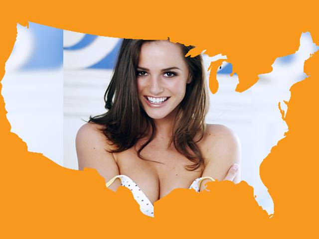 The Real Number of Popular Porn Stars Per State in the USA
