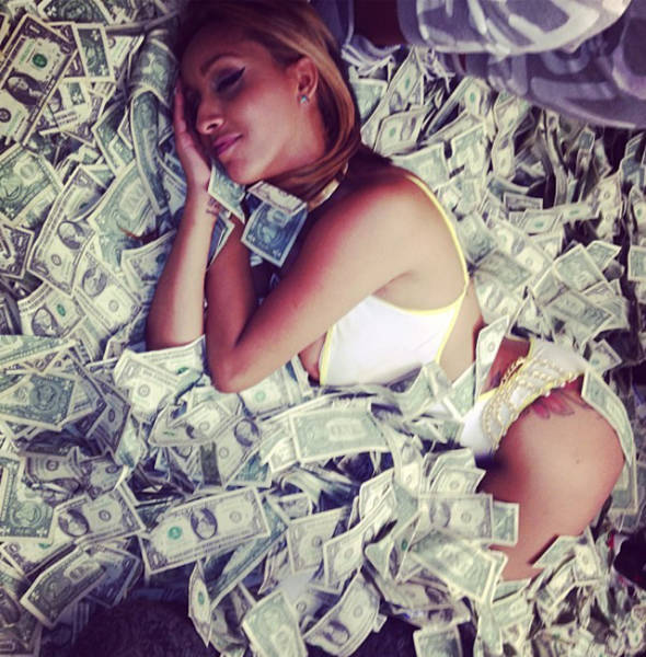 Strippers Showing Off Their Money