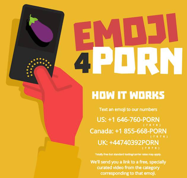 If You Send Emoji To Pornhub They Will Send You Free Porn