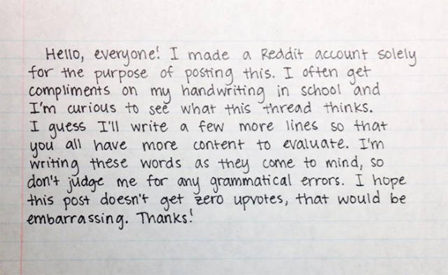 Perfect And Beautiful Handwriting That Will Amaze You