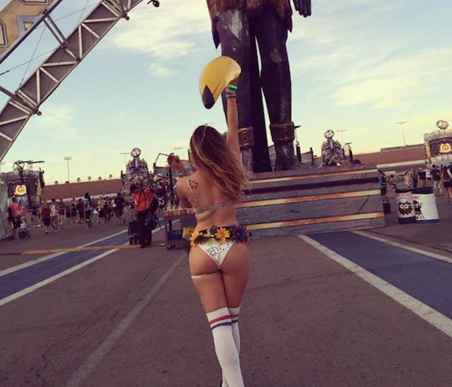 Smoking Girls From Electric Daisy Carnival