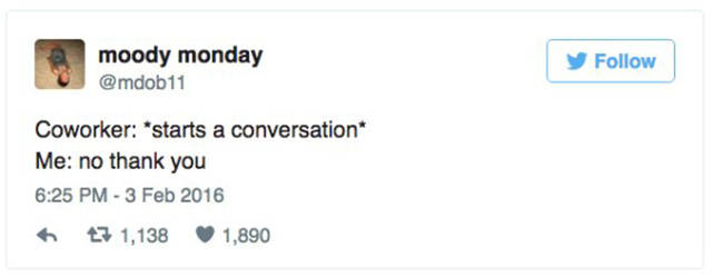 Tweets That Reveal What Introverts Think