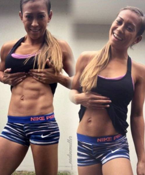 Fitness Models Show How Looks Can Be Deceiving In A Photo