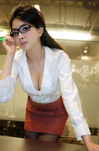 Cute Office Ladies In Mini Dresses And Mini Skirts