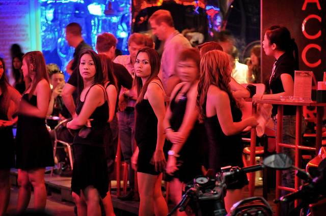 Thailand Prostitutes Put On Their Mourning Clothes