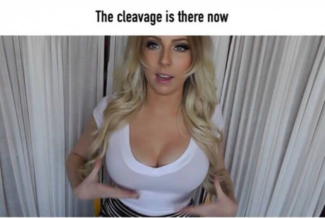 Girl Shows A Simple Way How To Make Boobs Look Bigger