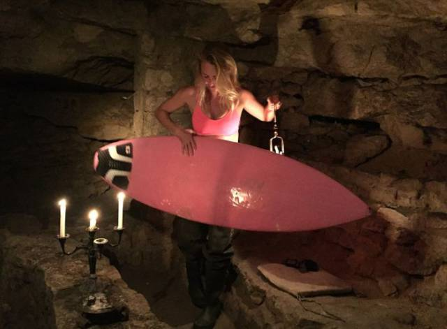 Real-Life 'Indiana Jane' Was The First To Surf In The Paris Catacombs Among 6 Million Skeletons