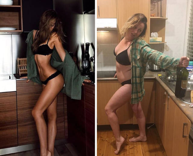 Woman Continues To Recreate Hilarious Celebrity Photos